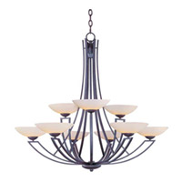 Maxim Lighting Ashford 9 Light Multi-Tier Chandelier in Burnish Texture 13606SWBT photo thumbnail