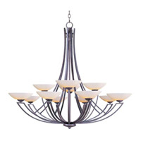 Maxim Lighting Ashford 12 Light Multi-Tier Chandelier in Burnish Texture 13607SWBT photo thumbnail