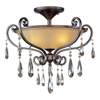 Maxim 14302COHR Chic 3 Light 26 inch Heritage Semi Flush Mount Ceiling Light