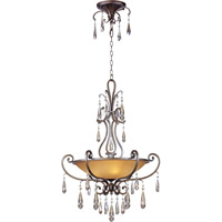 Maxim Lighting Chic 3 Light Pendant in Heritage 14304COHR