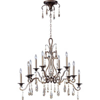 Maxim Lighting Chic 10 Light Multi-Tier Chandelier in Heritage 14307HR
