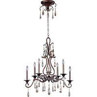 Maxim 14308HR Chic 6 Light 18 inch Heritage Single Tier Chandelier Ceiling Light