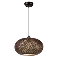 Maxim 14402CHWT Bali 1 Light 16 inch Pendant Ceiling Light in Chocolate