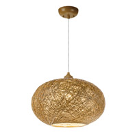 Maxim 14402NAWT Bali 1 Light 16 inch Pendant Ceiling Light in Natural