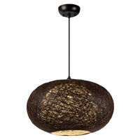 Maxim 14404CHWT Bali 1 Light 15 inch Pendant Ceiling Light in Chocolate