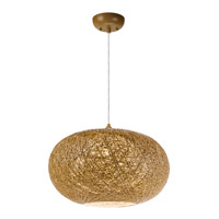 Maxim 14404NAWT Bali 1 Light 15 inch Pendant Ceiling Light in Natural