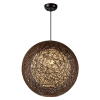 Maxim 14405CHWT Bali 1 Light 19 inch Pendant Ceiling Light in Chocolate