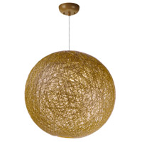 Bali 1 Light 19 inch Pendant Ceiling Light in Natural