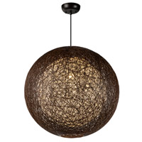 Maxim 14407CHWT Bali 1 Light 24 inch Pendant Ceiling Light in Chocolate