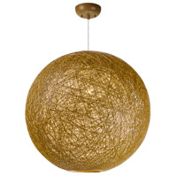 Maxim 14407NAWT Bali 1 Light 24 inch Pendant Ceiling Light in Natural