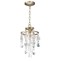 Maxim 14422CZGS Cebu 1 Light 9 inch Capiz and Gold Silver Single Pendant Ceiling Light