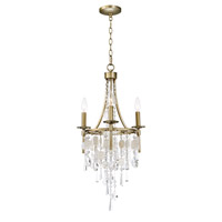 Maxim 14423CZGS Cebu 3 Light 15 inch Capiz and Gold Silver Chandelier Ceiling Light