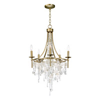 Maxim 14425CZGS Cebu 5 Light 21 inch Capiz and Gold Silver Chandelier Ceiling Light