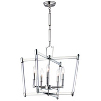 Lucent 5 Light 23 inch Polished Nickel Chandelier Ceiling Light