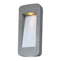 Maxim Lighting Optic 2 Light Outdoor Wall Mount in Platinum 18254PL