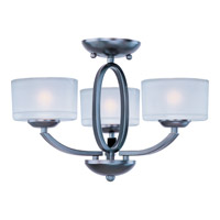 Elle 3 Light 17 inch Oil Rubbed Bronze Semi Flush Mount Ceiling Light