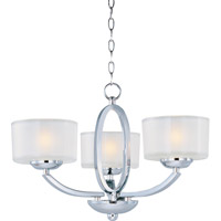 Elle 3 Light 17 inch Polished Chrome Semi Flush Mount Ceiling Light