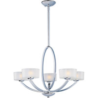 Maxim Lighting Elle 5 Light Single Tier Chandelier in Polished Chrome 19045FTPC