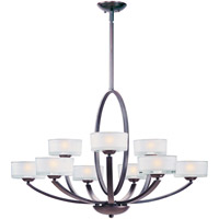 Maxim Lighting Elle 9 Light Multi-Tier Chandelier in Oil Rubbed Bronze 19046FTOI