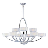 Maxim Lighting Elle 9 Light Multi-Tier Chandelier in Polished Chrome 19046FTPC