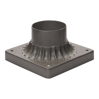 Outdoor Accessories 6 inch Pewter Cast Pier Mount in 6 in.