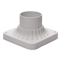 Outdoor Accessories 6 inch White Cast Pier Mount in 6 in.