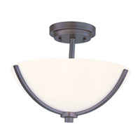 Maxim Lighting Rocco 3 Light Semi Flush Mount in Oil Rubbed Bronze 20021SWOI