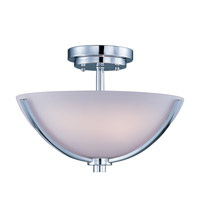 Rocco 3 Light 14 inch Polished Chrome Semi Flush Mount Ceiling Light
