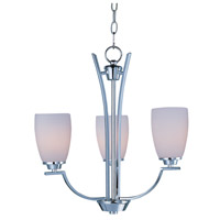 Maxim 20023SWPC Rocco 3 Light 19 inch Polished Chrome Mini Chandelier Ceiling Light