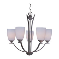 Maxim Lighting Rocco 5 Light Single Tier Chandelier in Oil Rubbed Bronze 20025SWOI
