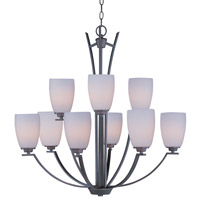 Maxim Lighting Rocco 9 Light Multi-Tier Chandelier in Oil Rubbed Bronze 20026SWOI