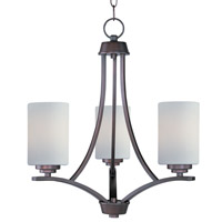 Maxim 20033SWOI Deven 3 Light 18 inch Oil Rubbed Bronze Mini Chandelier Ceiling Light