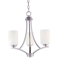 Maxim 20033SWSN Deven 3 Light 18 inch Satin Nickel Mini Chandelier Ceiling Light