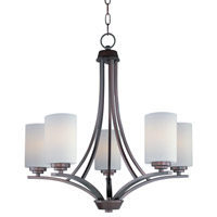 Maxim 20035SWOI Deven 5 Light 24 inch Oil Rubbed Bronze Single Tier Chandelier Ceiling Light