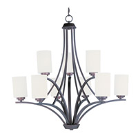 Maxim 20036SWOI Deven 9 Light 32 inch Oil Rubbed Bronze Multi-Tier Chandelier Ceiling Light