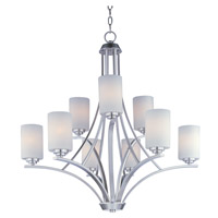 Maxim Lighting Deven 9 Light Multi-Tier Chandelier in Satin Nickel 20036SWSN