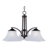 Aurora 3 Light 23 inch Oil Rubbed Bronze Down Light Chandelier Ceiling Light