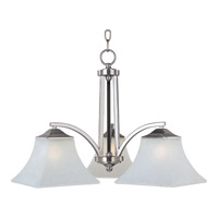 Aurora 3 Light 23 inch Satin Nickel Down Light Chandelier Ceiling Light