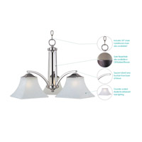 Maxim Lighting Aurora 3 Light Down Light Chandelier in Satin Nickel 20094FTSN alternative photo thumbnail