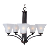 Maxim 20095FTOI Aurora 5 Light 26 inch Oil Rubbed Bronze Single Tier Chandelier Ceiling Light