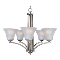 Maxim 20095FTSN Aurora 5 Light 26 inch Satin Nickel Single Tier Chandelier Ceiling Light