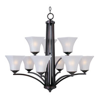 Maxim 20096FTOI Aurora 9 Light 32 inch Oil Rubbed Bronze Multi-Tier Chandelier Ceiling Light