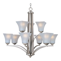 Maxim 20096FTSN Aurora 9 Light 32 inch Satin Nickel Multi-Tier Chandelier Ceiling Light