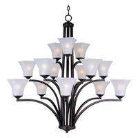 Maxim Lighting Aurora 15 Light Multi-Tier Chandelier in Oil Rubbed Bronze 20097FTOI