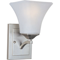 Aurora 1 Light 6 inch Satin Nickel Wall Sconce Wall Light