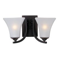 Maxim Lighting Aurora 2 Light Bath Light in Oil Rubbed Bronze 20099FTOI