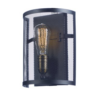 Maxim 20112BKNAB/BUI Palladium 1 Light 8 inch Black/Natural Aged Brass ADA Wall Sconce Wall Light in With Bulb