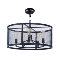 Palladium 6 Light 32 inch Black/Natural Aged Brass Chandelier Ceiling Light