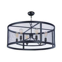 Palladium 5 Light 24 inch Black/Natural Aged Brass Chandelier Ceiling Light