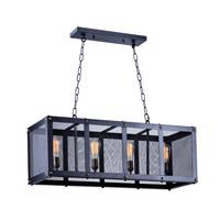 Maxim 20116BKNAB Palladium 4 Light 14 inch Black/Natural Aged Brass Chandelier Ceiling Light in Without Bulb